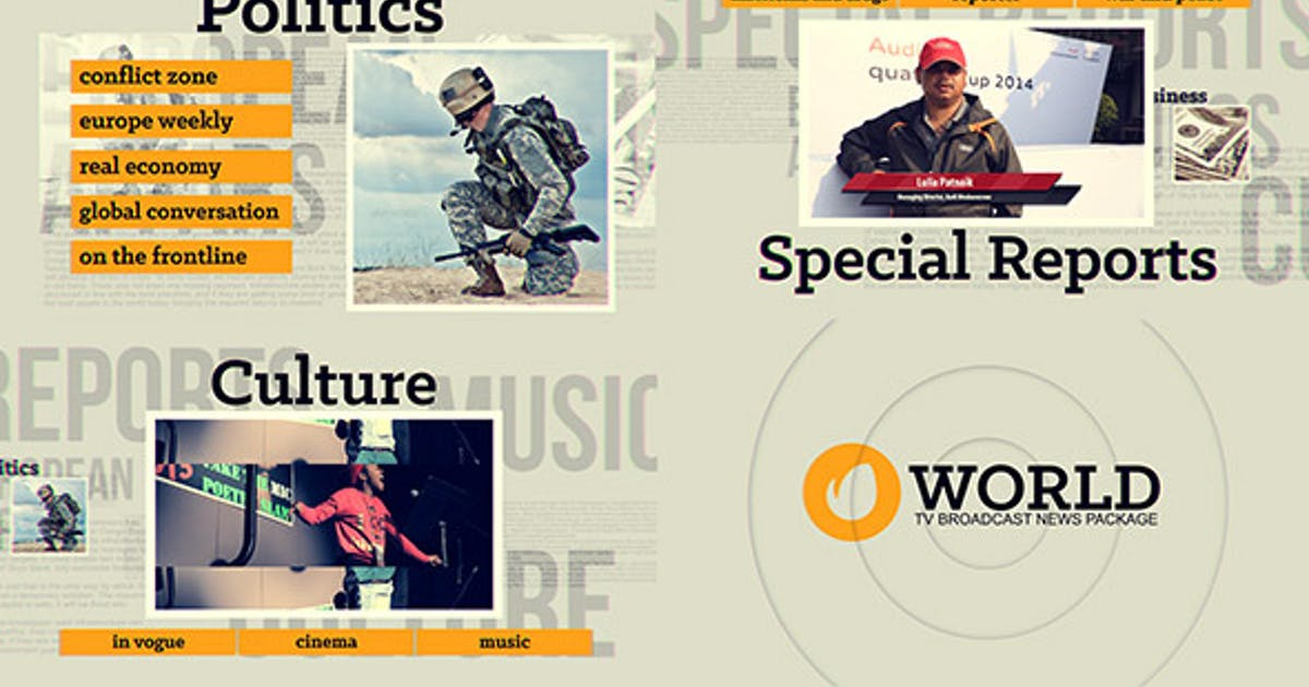 Download Broadcast & News TV Video Template Package - Envato