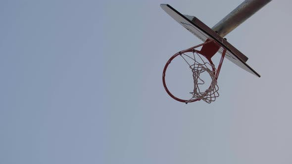 Thumbnail for Isolated Basketball Hoop and Ball Score a Goal