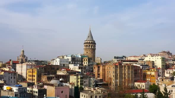 Cover Image for Golden Horn And Galata Tower Aerial View
