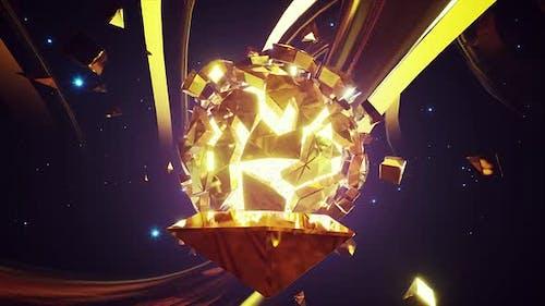 Glowing Golden Shards