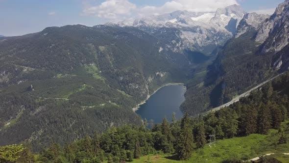 Aerial of Gosausee, Austria