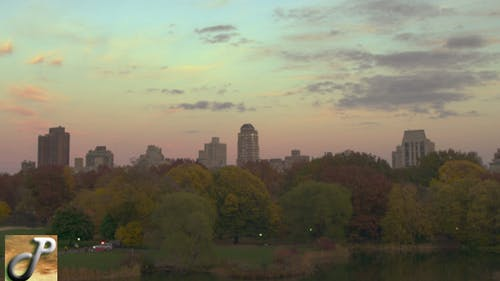 Sunset In Central Park Turtle Pond 02