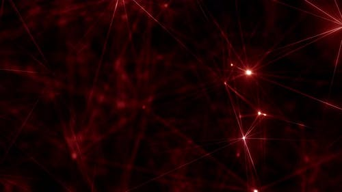 Hypnotic Red Cybernetic Abstract Artificial Intelligence Quantum Qubit Plexus Array Loop
