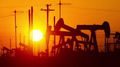 Oil Wells At Sunrise