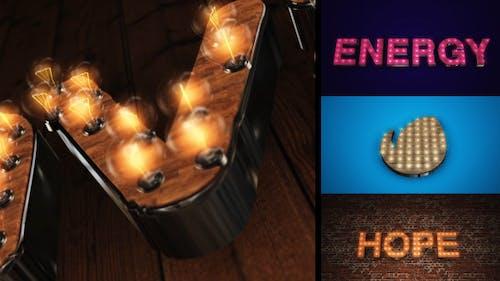 Light It Up - Light Bulb Text or Logo Reveal