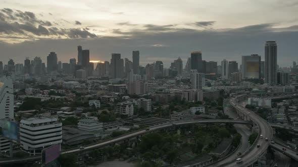 Thumbnail for City Traffic Sunset Time