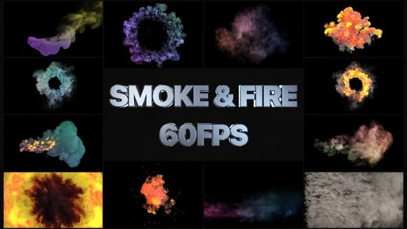 Thumbnail for Smoke And Fire VFX Simulation Pack | Motion Graphics Pack