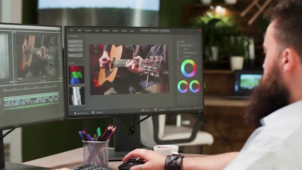 Thumbnail for Screens of Professional Video Editor and Colorist