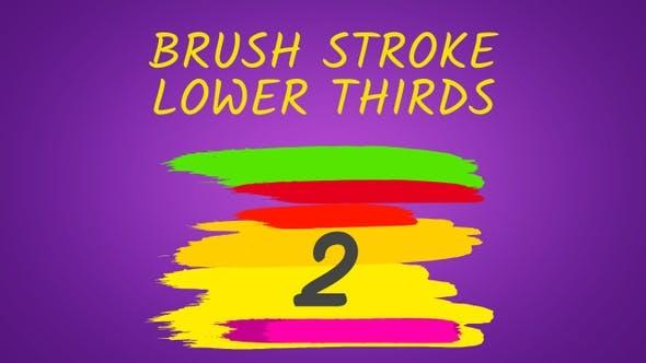 Thumbnail for Brush Stroke Lower Thirds Pack 2