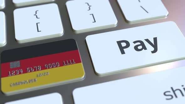 Thumbnail for Bank Card Featuring Flag of Germany As a Key on a Keyboard