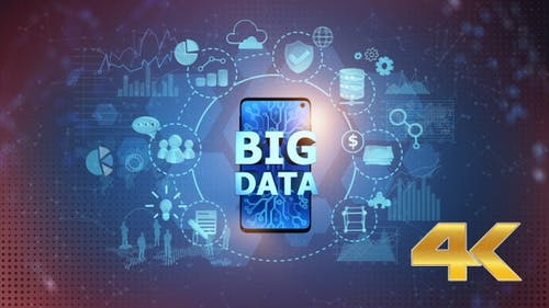 Big Data On Mobile Phone - Center (4K)