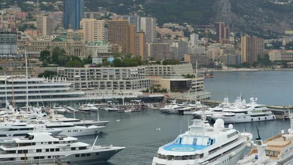 Thumbnail for Expensive Yacht With Helipad Docked in Monaco Harbor, Luxury Private Property