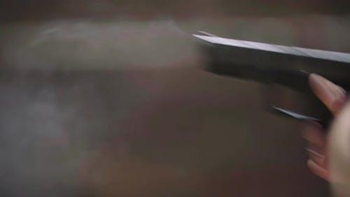 Close-up Shot of a Pistol