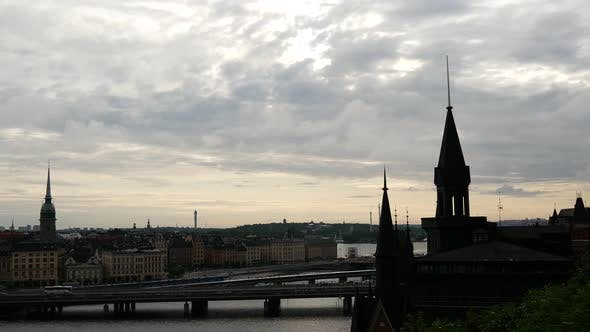 Time lapse from Södermalm over Gamla Stan