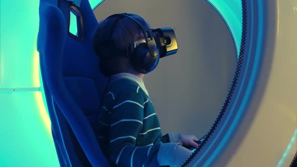 Thumbnail for Little Boy Experiencing Virtual Reality Attraction
