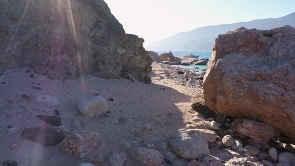 Huge Stones on the Beach