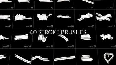 40 Stroke Brushes Pack
