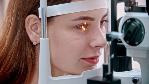 Thumbnail for Glow on the Womans Eye From a  Device
