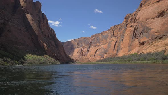 Thumbnail for Colorado River and steep cliffs