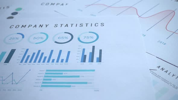 Thumbnail for Financial Business Graph Slider Shot 4k