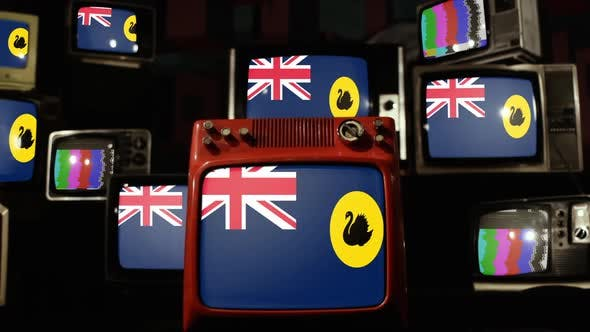 Thumbnail for Flag of Western Australia on Retro TVs.