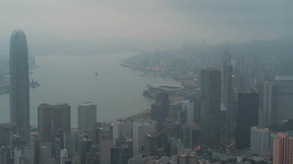 Thumbnail for Hong Kong, China | Sunrise of the city as seen from Victoria Peak