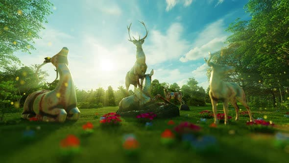 Thumbnail for 4K Deers Garden
