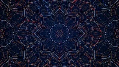 Mandala Neon Pattern 02