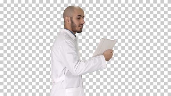 Thumbnail for Sincere Doctor Making Video Call to His Patient Walking Alpha