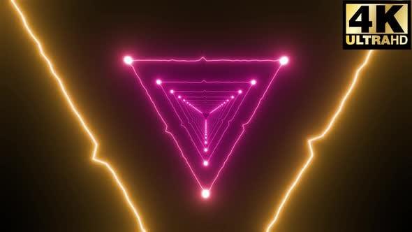 4k Triangular Neon Wave Loops Pack