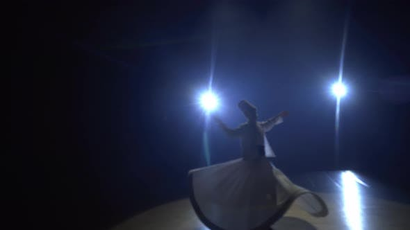 Thumbnail for Semazen Rotating Under Spotlights