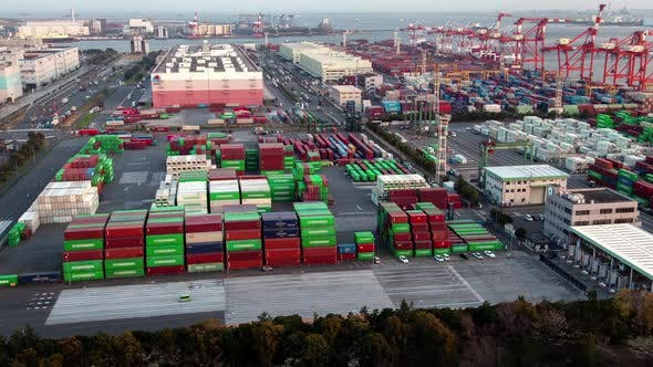 Thumbnail for Container Terminal Seaport Cargo Vehicle Tokyo