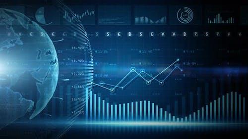 Digitale Daten Finanzinvestitionen 986