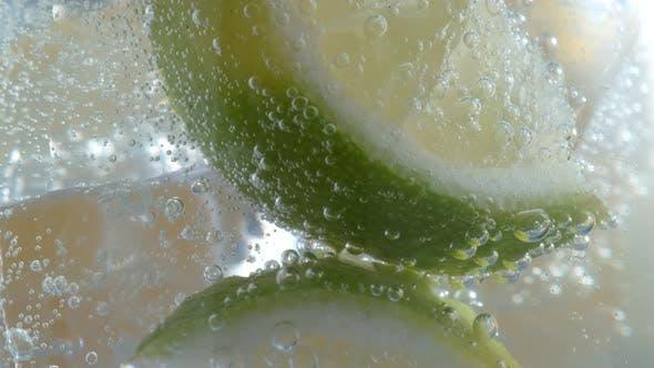 Lemon Lime soda in super slow motion.  Shot on Phantom Flex 4K high speed camera.
