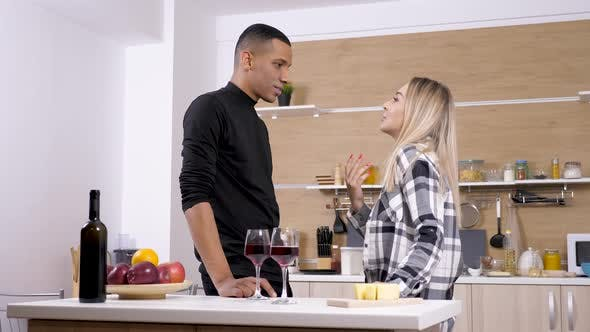 Thumbnail for Interracial Couple Arguing at the Kitchen
