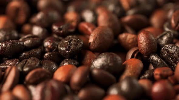 Roasted Coffee Beans Dripping b Roll
