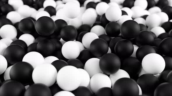 Pile of Black & White Spheres