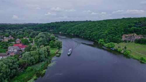 Small Passenger Ship on the River