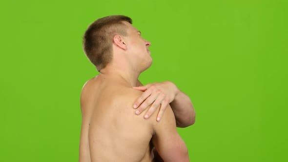 Thumbnail for Man Suffering From Having Painful Cramps in Shoulder, Severe Pain