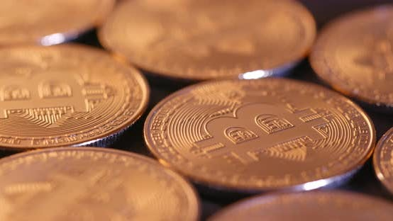 Thumbnail for Crypto currency Gold Bitcoin in spinning