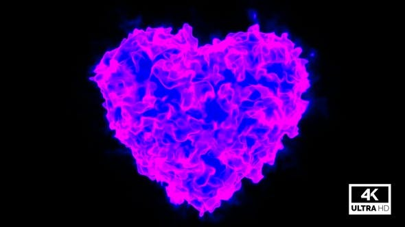 Thumbnail for Heart Shape Blue And Pink Mixed Colorful Smoke