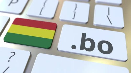 Bolivian Domain .Bo and Flag of Bolivia on the Computer Keyboard
