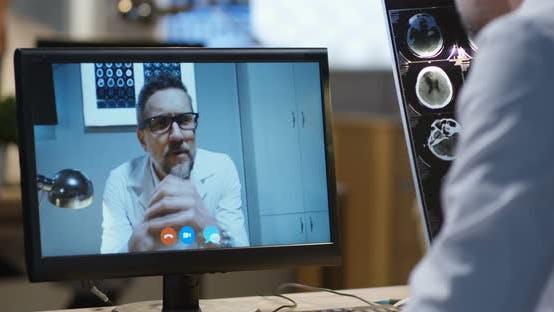 Thumbnail for Doctors Having Video Call