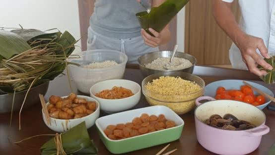 Thumbnail for Homemade rice dumpling for Chinese dragon boat festival