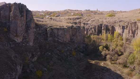 Panorama View of Valley at Cappadocia, Turkey.