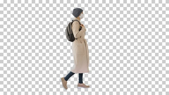 Thumbnail for Covid-19 virus prevention woman wearing, Alpha Channel