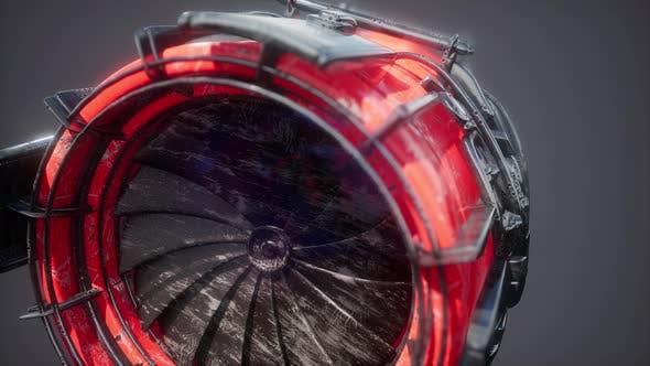 Thumbnail for Rotate Jet Engine Turbine