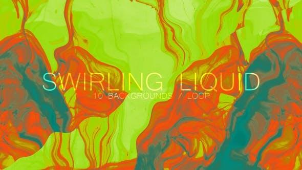 Thumbnail for Swirling Liquid Background Set