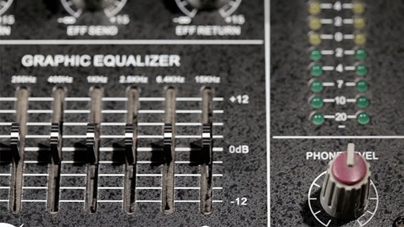 Thumbnail for Music Mixing Desk With Equalizer