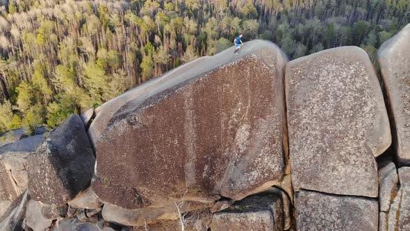 Thumbnail for Mountain Runner Trains on a Mountain Ridge